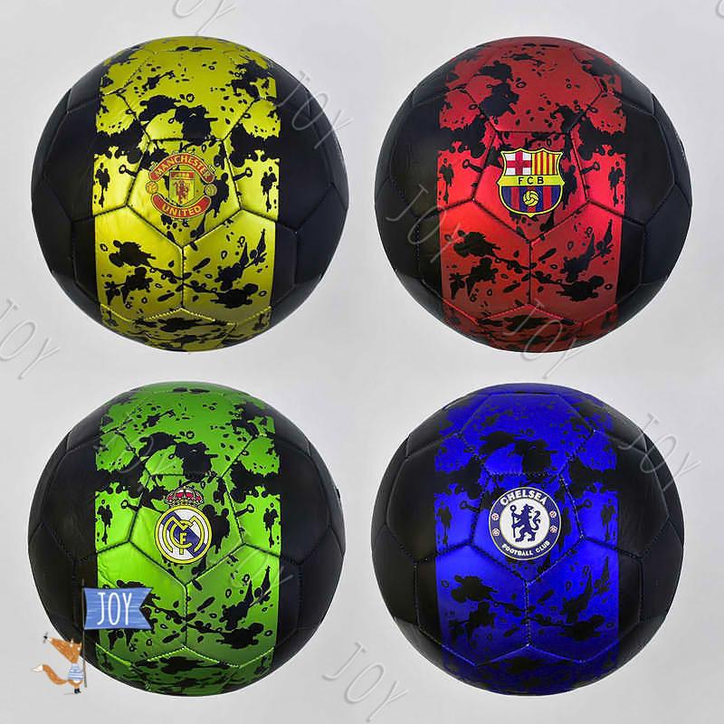 Мяч футбольный С 34406 (60) 4 вида, 330 грамм, материал - мягкий PVC