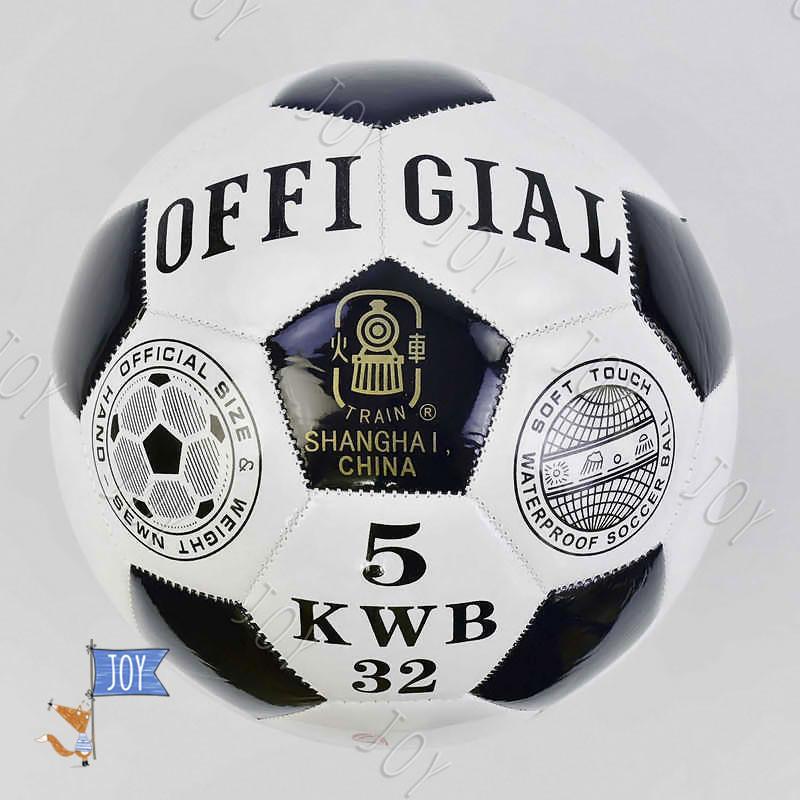Мяч футбольный С 34415 (60) 1 вид, 320 грамм, материал - мягкий PVC