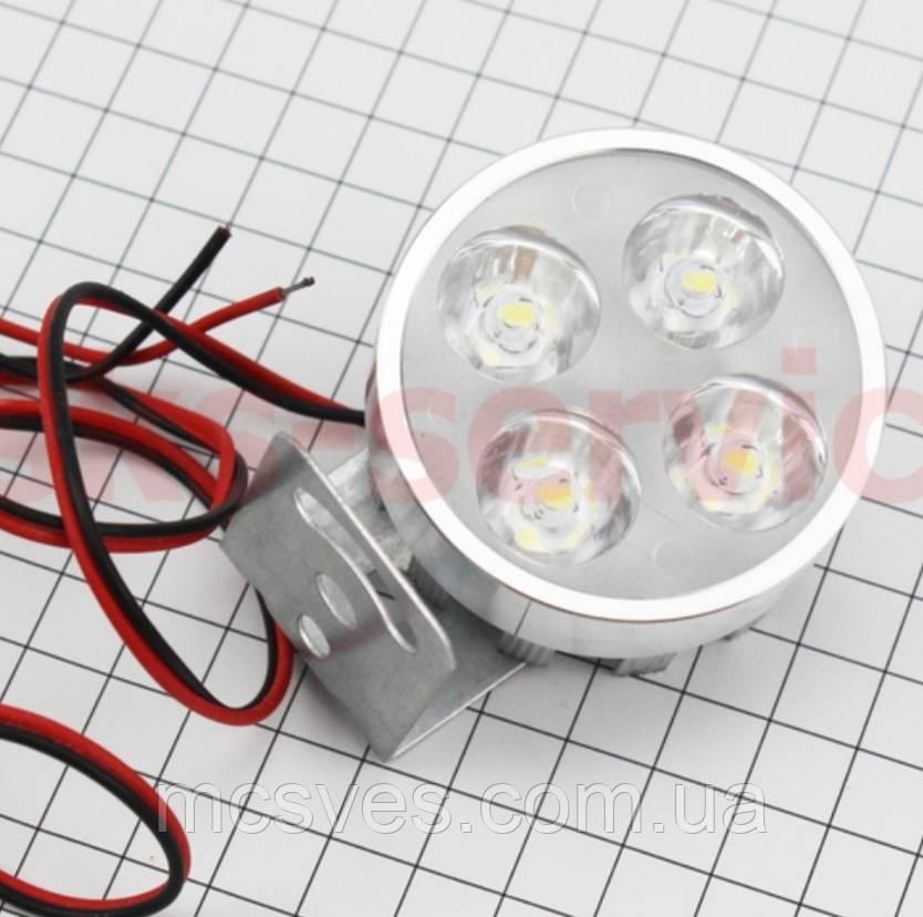 Фара дополнительная светодиодная - 4 LED с креплением
