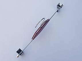 Плічка вішалки тремпеля комісійні (б/у) кольору вишні, для штанів і спідниць, довжина 35 см, фото 2