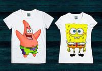 Парные футболки Спанч Боб