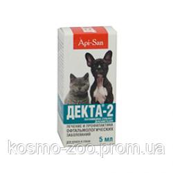 Капли Декта 2 глазные для котов и собак, 5 мл
