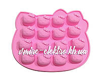 Силиконовая форма для конфет, льда, желе Hello Kitty 16 шт