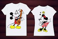 Парные футболки Микки и Минни Маус, фото 1