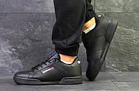 Мужские кроссовки в стиле Reebok Classic Black, черные 43 (27,5 см)