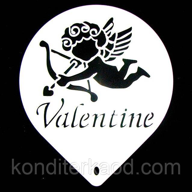 Трафарет  большой диаметр 22,5 см С Днем Святого Валентина