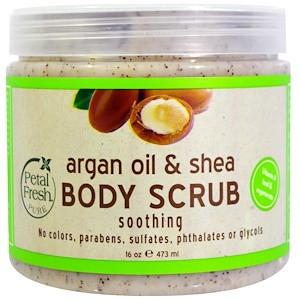 Скраб для тела с маслом арганы и ши (473 мл) Petal Fresh, Pure