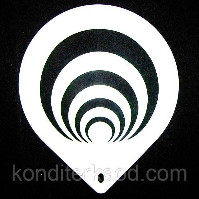 Трафарет  большой диаметр 22,5 см Узор № 2