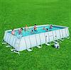 Каркасный бассейн Bestway 56475 (732х366х132 см) с песочным фильтром, лестницей и тентом