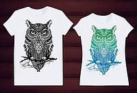 Парные футболки Совы любовь
