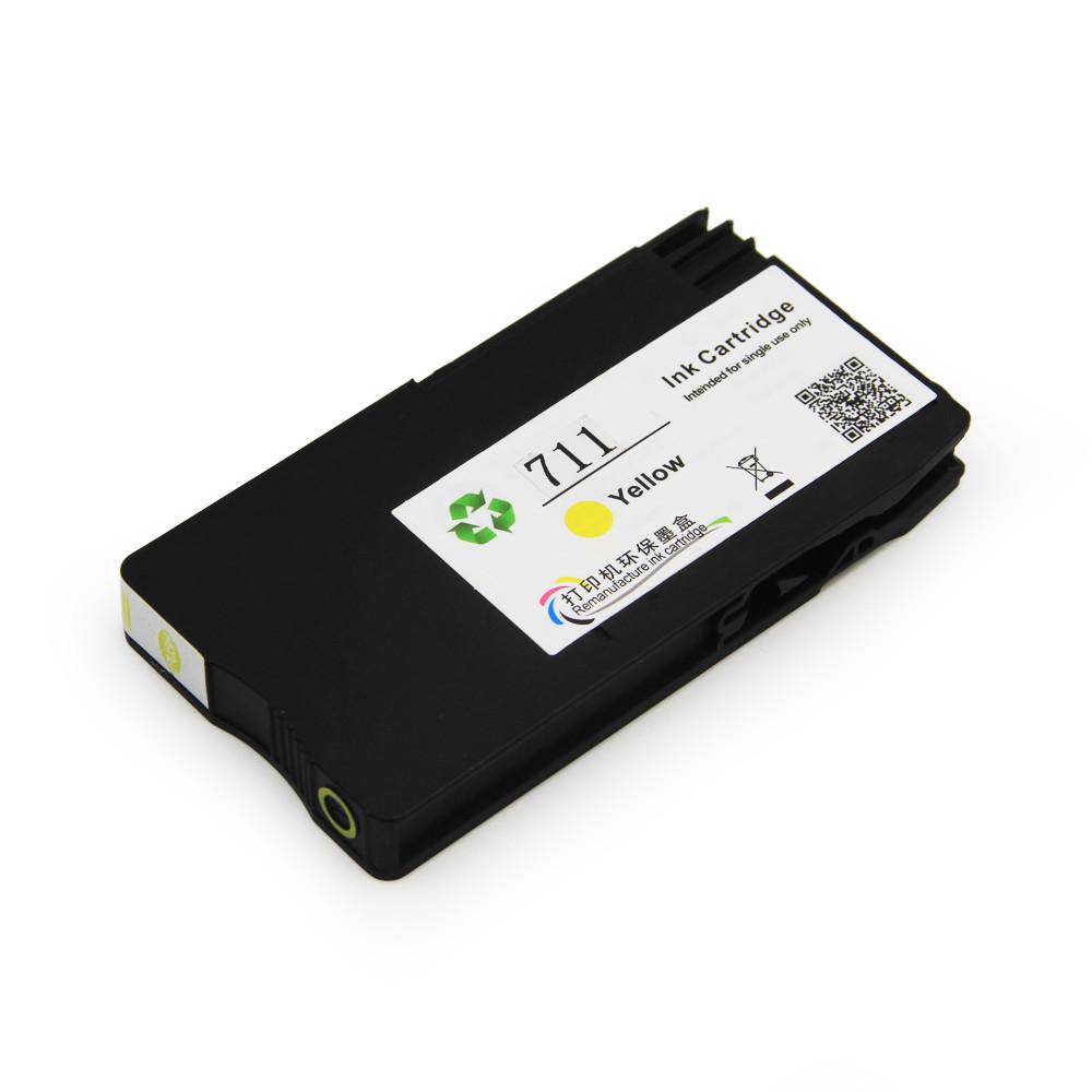 Картридж Ocbestjet HP 711 для HP DesignJet T120/T520, Yellow, 29 мл
