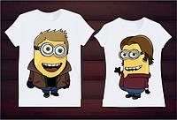 Парные футболки миньёны, фото 1