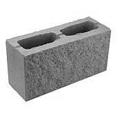 Блок декоративный серый