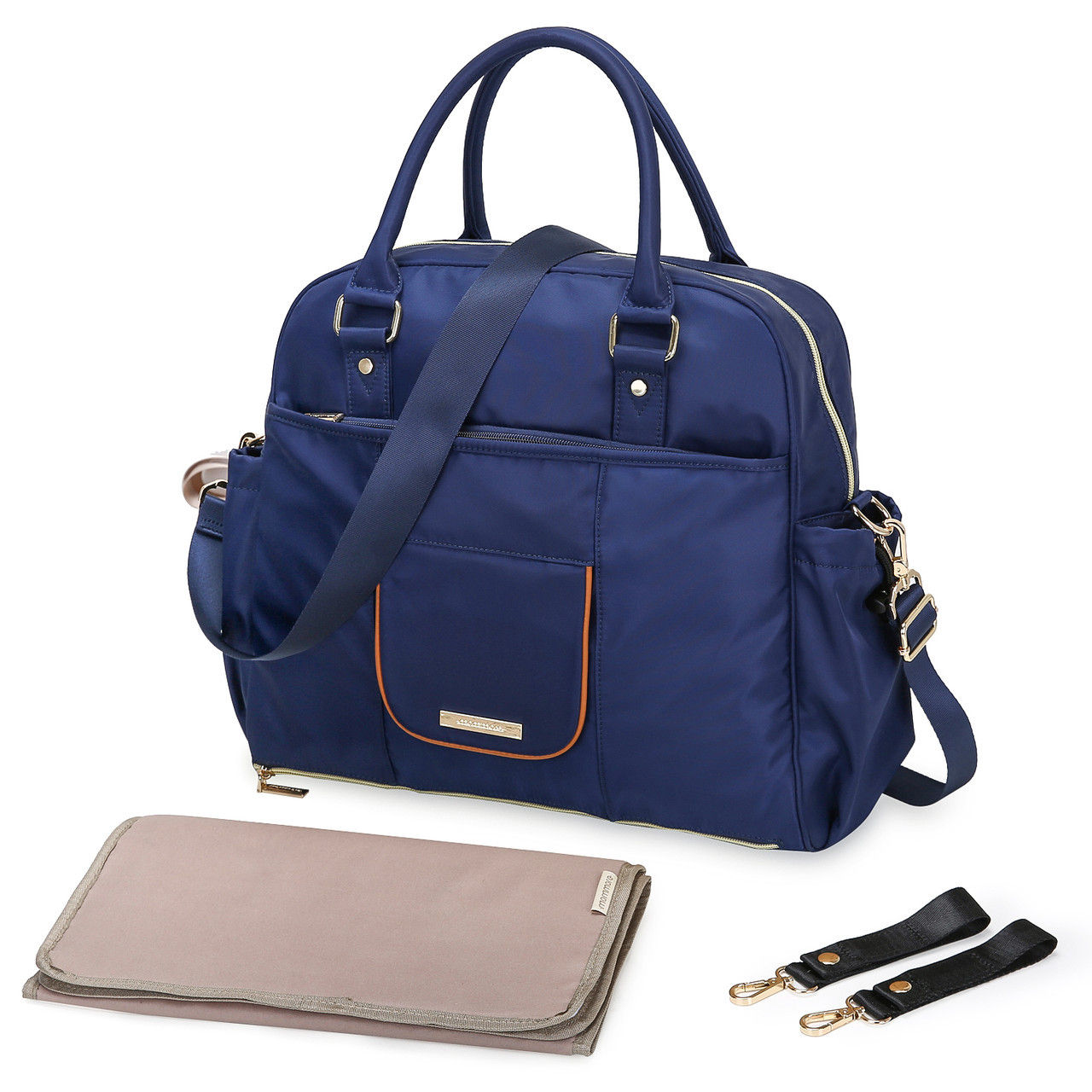 Удобная сумка-органайзер для мам Mommore   синий