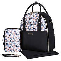 Большая сумка-рюкзак для прогулок и путешествий с младенцем  Mommore  черный для мам, фото 1