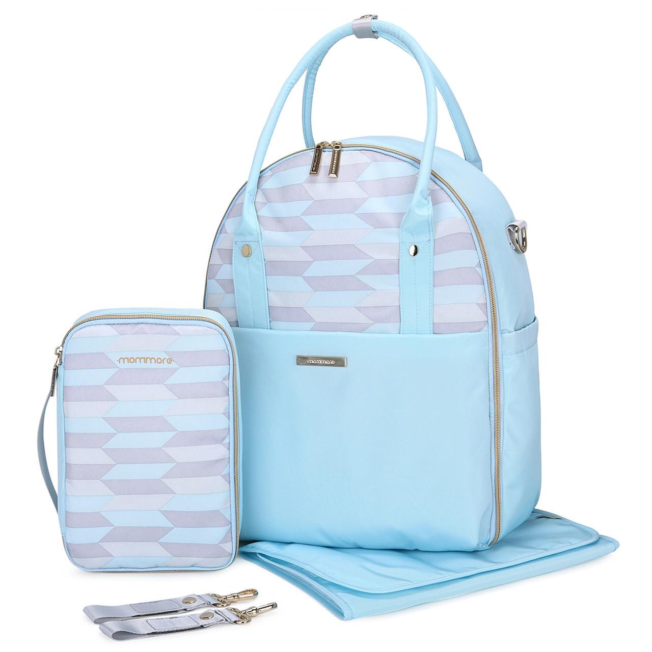 Большой-рюкзак для прогулок и путешествий с младенцем  голубая   Mommore