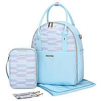 Большой-рюкзак для прогулок и путешествий с младенцем  голубая   Mommore, фото 1
