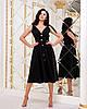 Красивое летнее платье на пуговицах с завышенной талией и завязками на плечах, фото 4