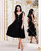 Красивое летнее платье на пуговицах с завышенной талией и завязками на плечах, фото 5