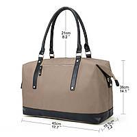 Женская сумка Ecosusi бежевая, фото 1