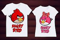 Парные футболки птички Angry birds , фото 1