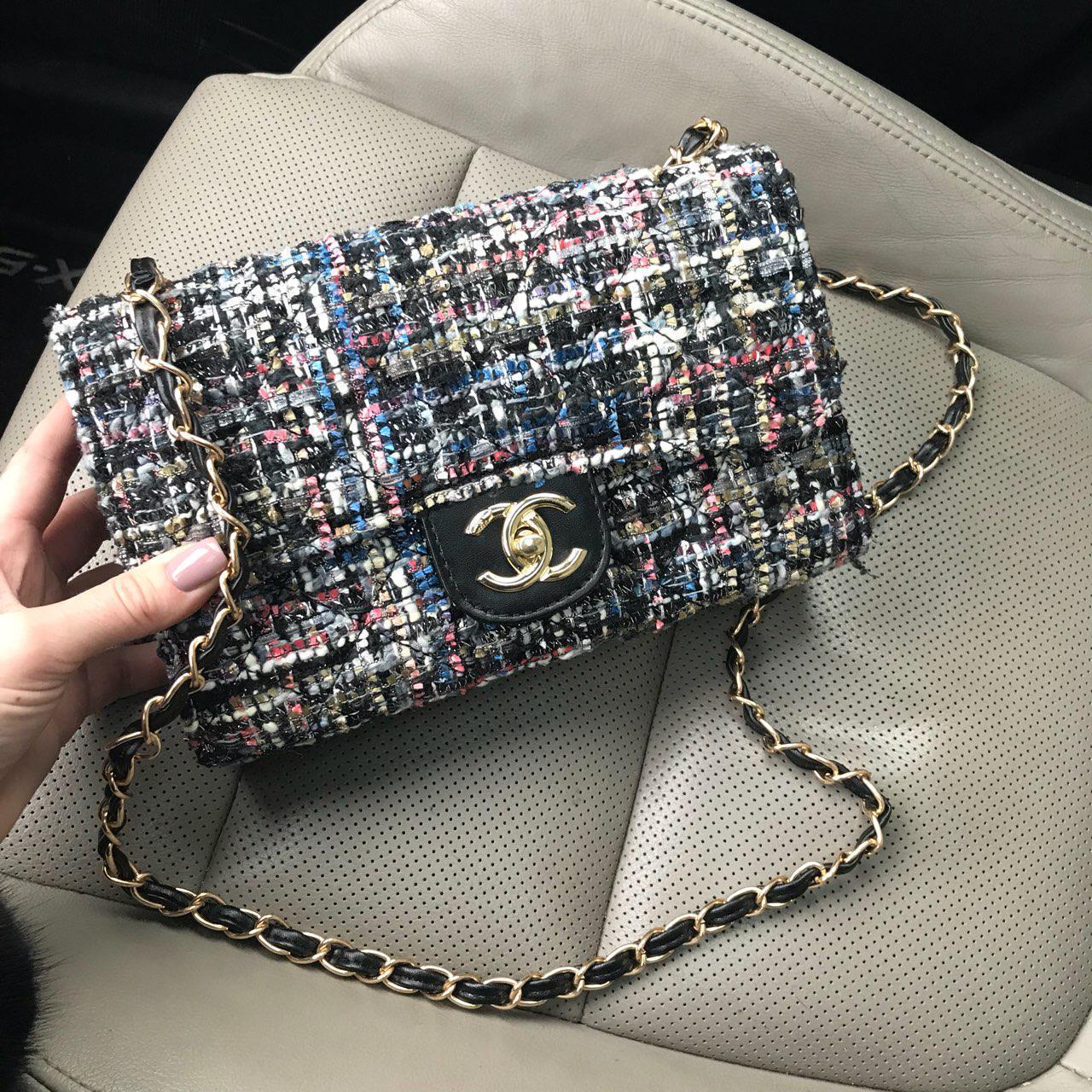 79ccdf7ec798 Твидовая женская сумка копия Chanel - Интернет-магазин