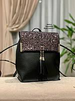 Стильный рюкзак Глиттер,кожзам, фото 1