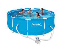 Каркасный бассейн Bestway 56260 (366x100) с картриджным фильтром, фото 1