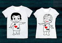 Парные футболки Love is, фото 1