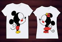Парные футболки Мики и Минни Маус