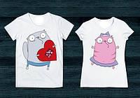 Парные футболки коты