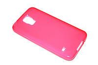 Глянцевый TPU чехол для Samsung Galaxy S5 розовый, фото 1