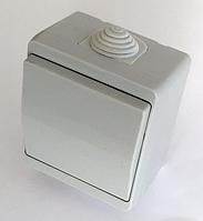 Выключатель IP44 одноклавишный герметичный накладной влагозащищенный наружный хорошая цена купить