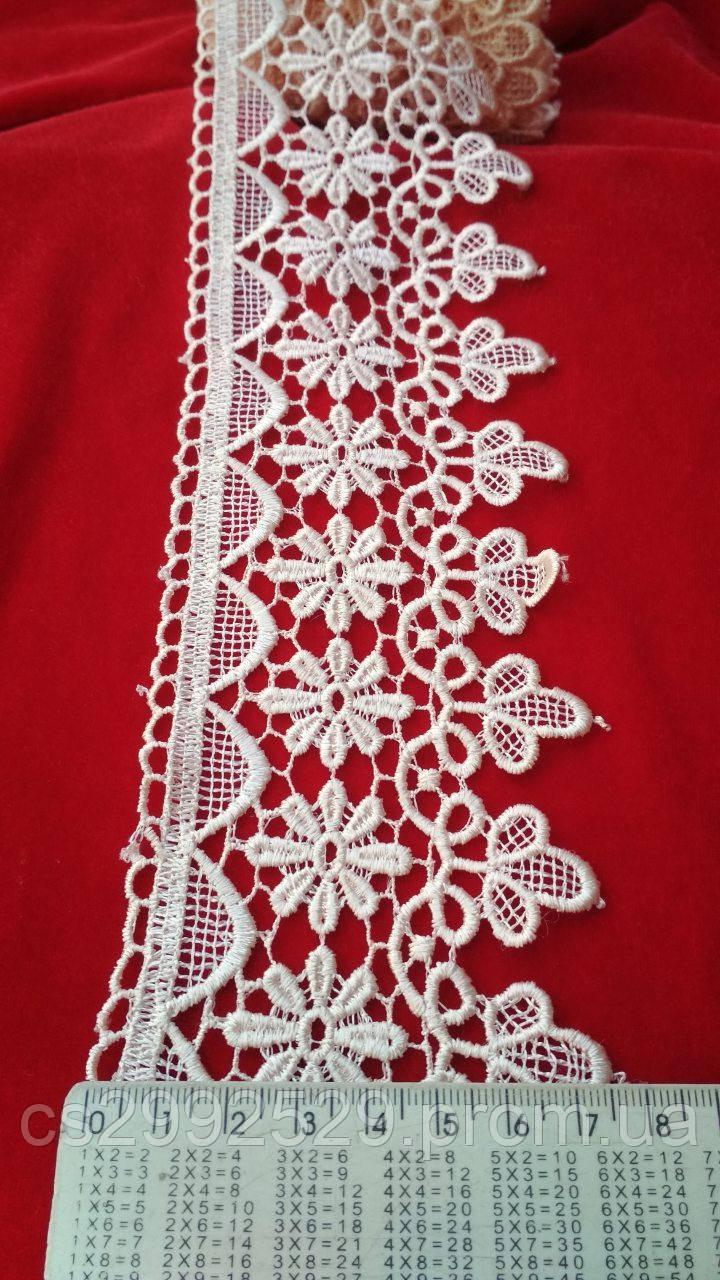 Кружево цветы 20 метров белый. Кружево макраме для пошива и декора