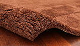 Купить однотонные шерстяные ковры шоколадного цвета, фото 3