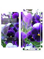Наклейка на айфон 4 / 5  Viola Flowers