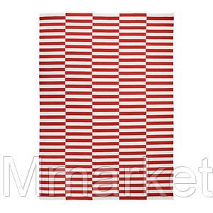 Ковер безворсовый IKEA STOCKHOLM 2017 250x350 см Бело-красный (003.452.38)