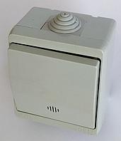 Выключатель с подсветкой IP44 одноклавишный герметичный накладной влагозащищенный наружный хорошая цена купить