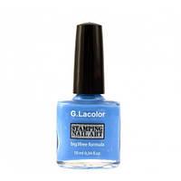 Лак для стемпинга G.La color № 006 (небесно-голубой), 10 мл