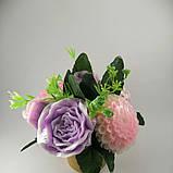 Букет з мильних квітів Квіткова композиція з мила ручної роботи, фото 4