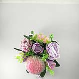 Букет з мильних квітів Квіткова композиція з мила ручної роботи, фото 5