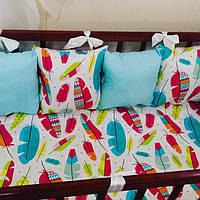 Бортики-защита (гипоаллергенные подушечки) в детскую кроватку