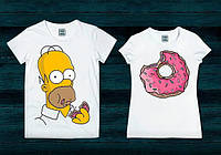 Парные футболки Симпсоны, фото 1
