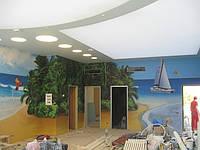 Бесшовные тканевые потолки с фотопечатью
