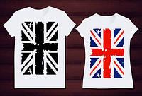Парные футболки английский флаг, фото 1