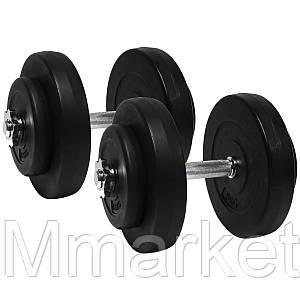 Гантели 2х10 кг (Металлический Гриф)