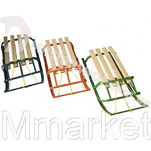 Санки детские 2 модели 3 цвета (веревка в комплекте)