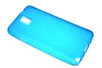 Глянцевый TPU чехол для Samsung Galaxy Note 3 N9000 голубой