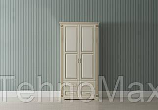 Шкаф 2Д «Франческа» 1200*650*2350 белый, молоко, фокс