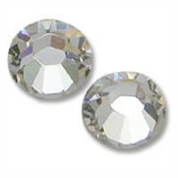 Стразы серебро, белые, прозрачные SS 3 Crystal, 100 шт.